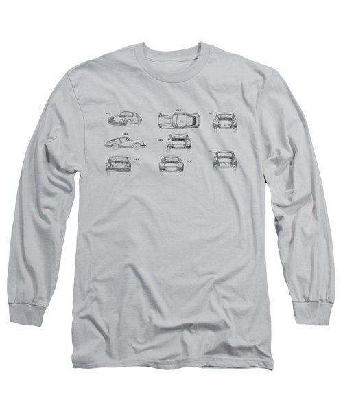 Porsche 911 Patent Long Sleeve T-Shirt by Mark Rogan