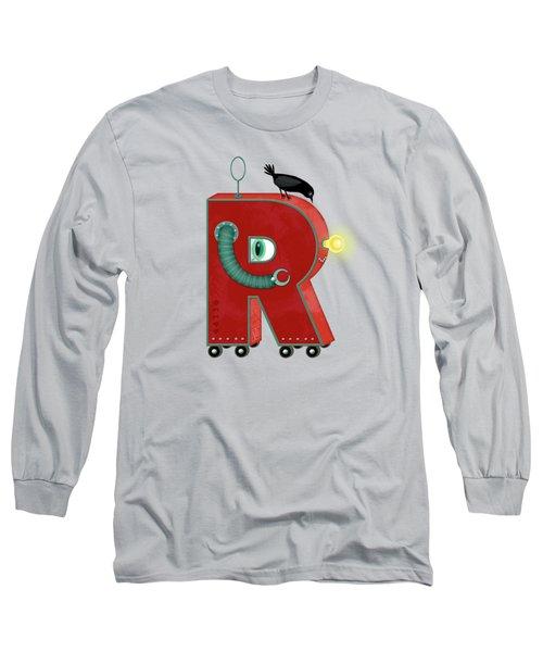 R Is For Robot Long Sleeve T-Shirt by Valerie Drake Lesiak