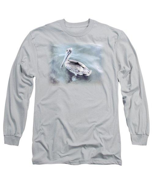 Radiant Pelican Long Sleeve T-Shirt by Korrine Holt