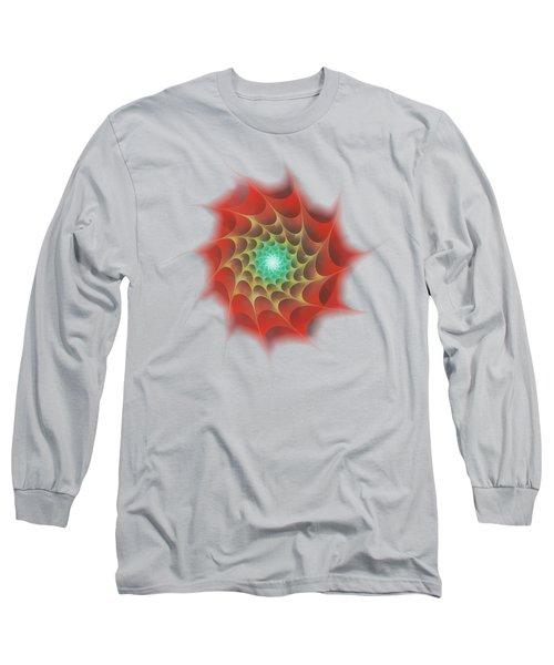 Red Web Long Sleeve T-Shirt by Anastasiya Malakhova