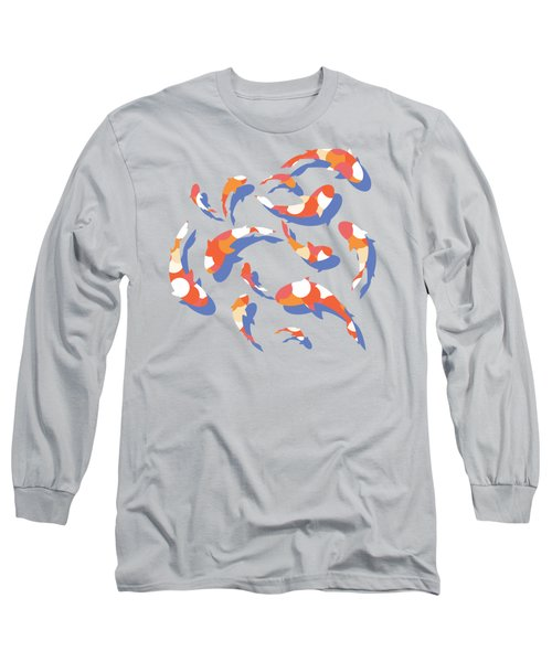 Koi Long Sleeve T-Shirt by Lucy Niedbala