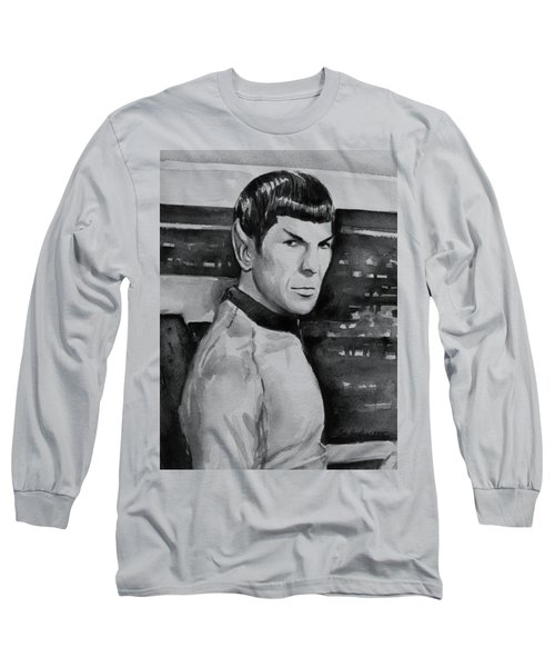 Spock Long Sleeve T-Shirt by Olga Shvartsur