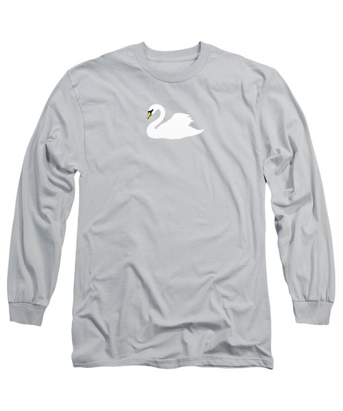 Swan Spring Long Sleeve T-Shirt by Priscilla Wolfe