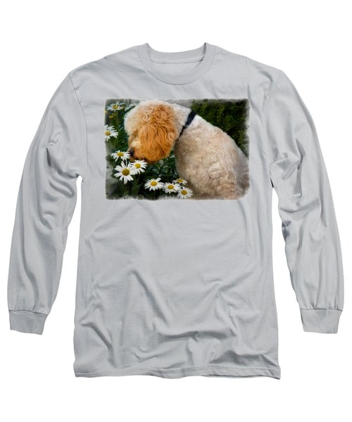 Taking Time To Smell The Flowers Long Sleeve T-Shirt by Susan Candelario