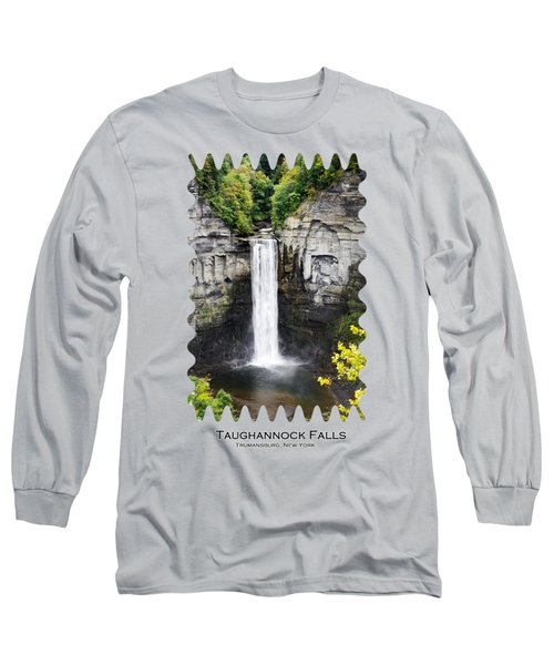 Taughannock Falls View From The Top Long Sleeve T-Shirt by Christina Rollo