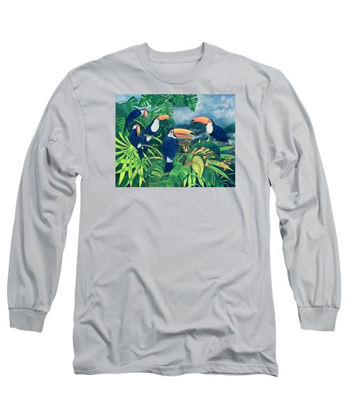 Toucan Talk Long Sleeve T-Shirt by Lisa Graa Jensen