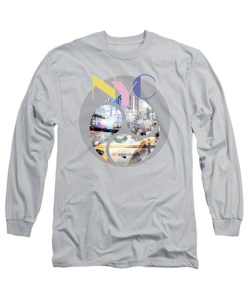Trendy Design New York City Geometric Mix No 1 Long Sleeve T-Shirt by Melanie Viola