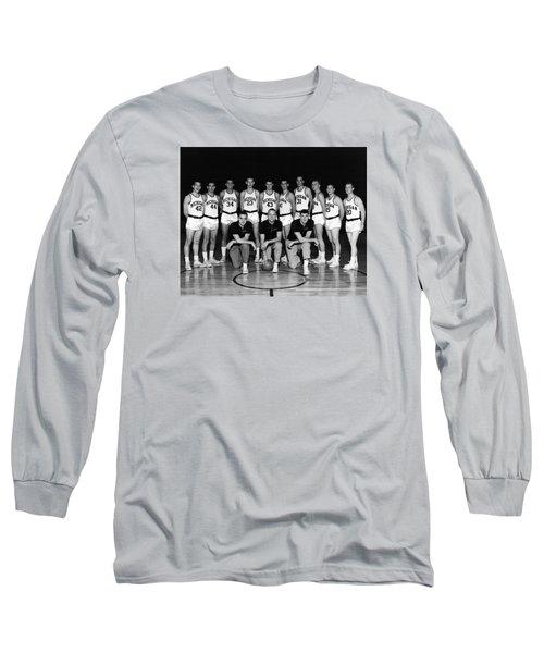 University Of Michigan Basketball Team 1960-61 Long Sleeve T-Shirt by Mountain Dreams
