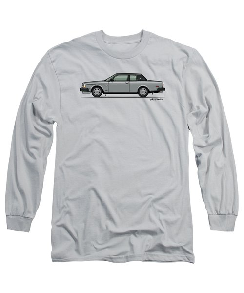 Volvo 262c Bertone Brick Coupe 200 Series Silver Long Sleeve T-Shirt by Monkey Crisis On Mars