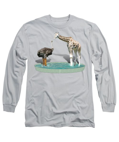Wading Pool Long Sleeve T-Shirt by Gravityx9  Designs