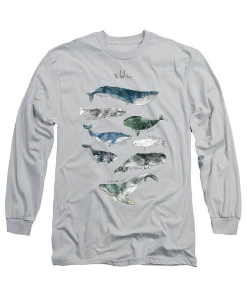 Whales Long Sleeve T-Shirt by Amy Hamilton