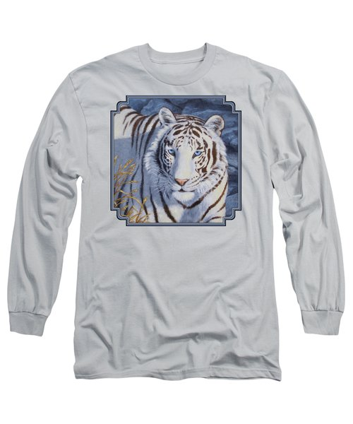 White Tiger - Crystal Eyes Long Sleeve T-Shirt by Crista Forest
