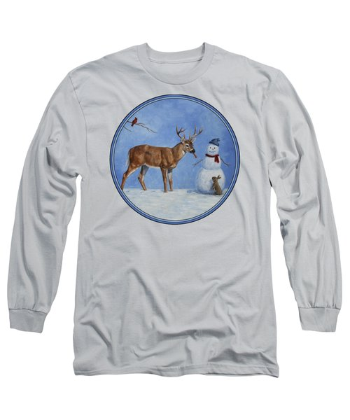 Whose Carrot Seasons Greeting Long Sleeve T-Shirt by Crista Forest