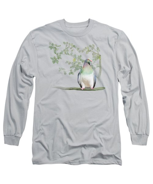 Wood Pigeon Long Sleeve T-Shirt by Ivana Westin