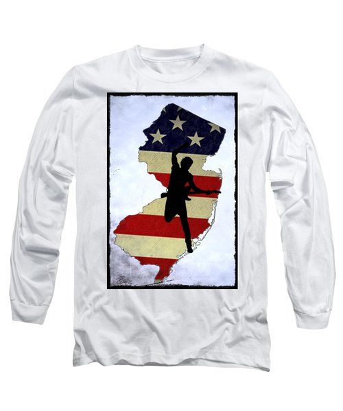 Born In New Jersey Long Sleeve T-Shirt by Bill Cannon