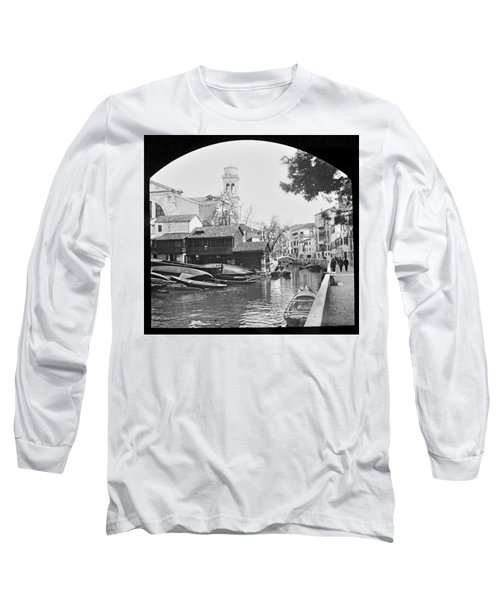 Long Sleeve T-Shirt featuring the photograph Pegnitz River Nuremberg Germany 1903 by A Gurmankin