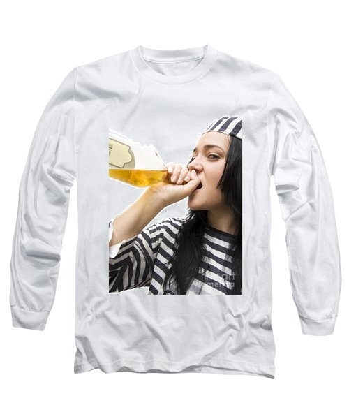 Drinking Detainee Long Sleeve T-Shirt by Jorgo Photography - Wall Art Gallery