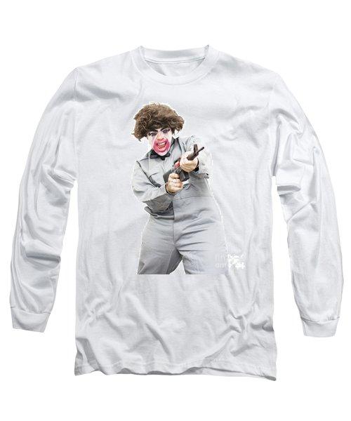 Female Psycho Killer Long Sleeve T-Shirt by Jorgo Photography - Wall Art Gallery