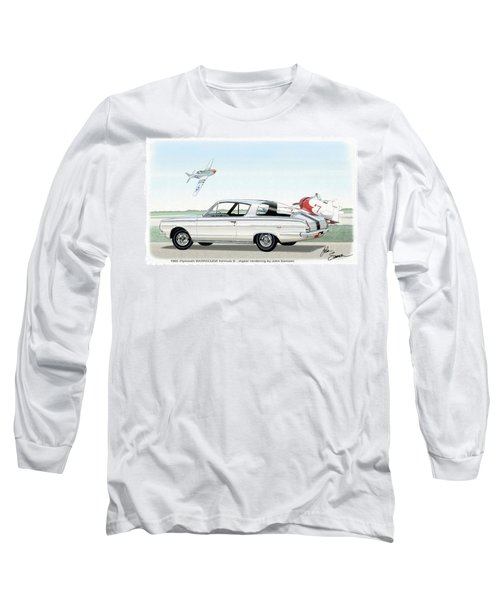 1965 Barracuda  Classic Plymouth Muscle Car Long Sleeve T-Shirt by John Samsen