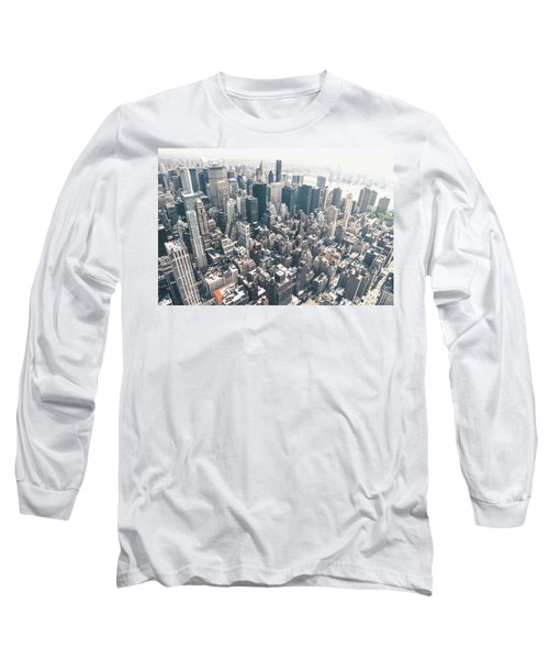 New York City From Above Long Sleeve T-Shirt by Vivienne Gucwa