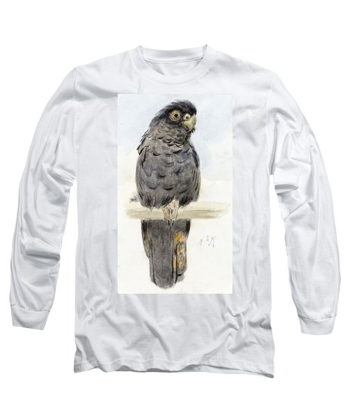 A Black Cockatoo Long Sleeve T-Shirt by Henry Stacey Marks