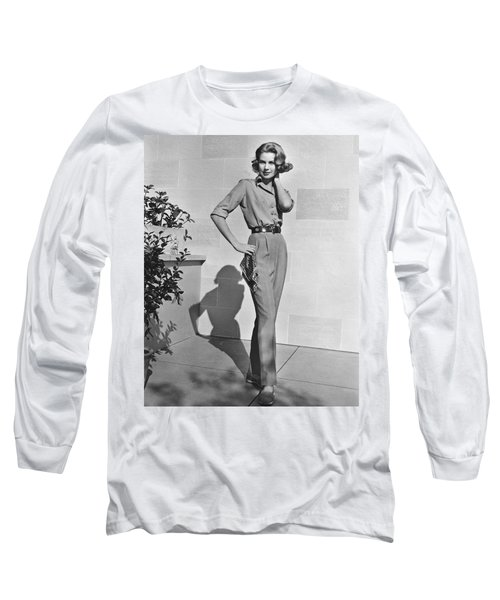 Actress Grace Kelly Long Sleeve T-Shirt by Underwood Archives