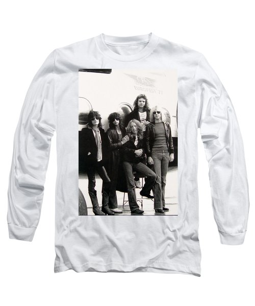 Aerosmith - Eurofest Jet 1977 Long Sleeve T-Shirt by Epic Rights