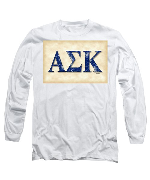 Alpha Sigma Kappa - Parchment Long Sleeve T-Shirt by Stephen Younts
