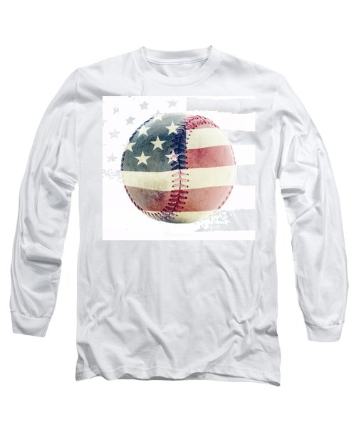 American Baseball Long Sleeve T-Shirt by Terry DeLuco