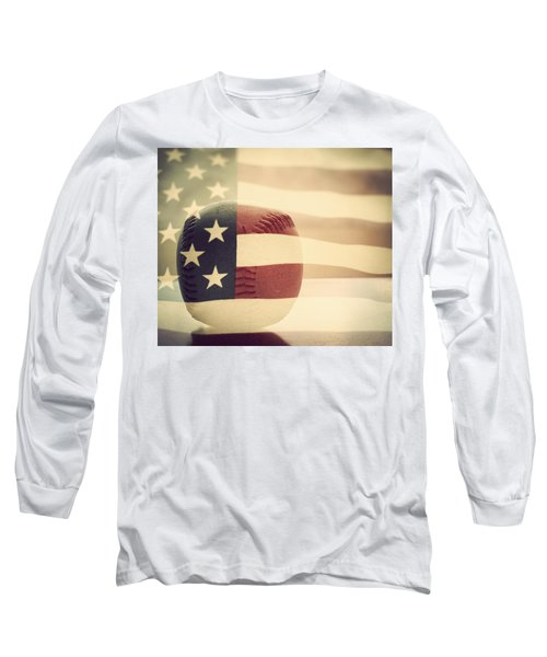 Americana Baseball  Long Sleeve T-Shirt by Terry DeLuco