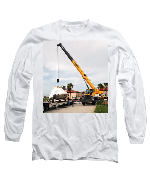 Long Sleeve T-Shirt featuring the photograph Apollo Capsule Going In For Repairs by Science Source