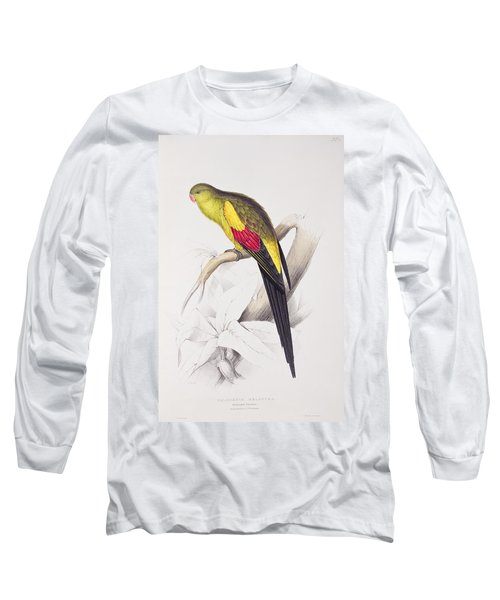 Black Tailed Parakeet Long Sleeve T-Shirt by Edward Lear