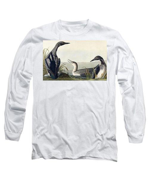 Black Throated Diver  Long Sleeve T-Shirt by John James Audubon