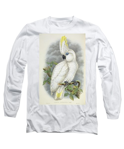 Blue-eyed Cockatoo Long Sleeve T-Shirt by William Hart
