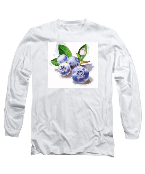 Artz Vitamins The Blueberries Long Sleeve T-Shirt by Irina Sztukowski