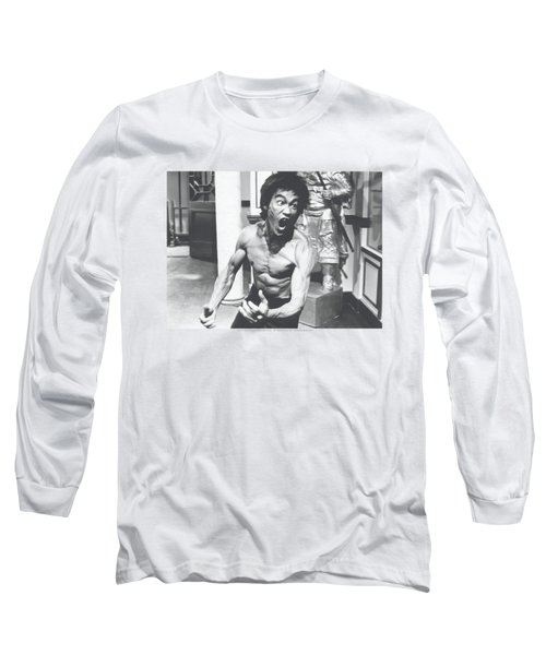 Bruce Lee - Full Of Fury Long Sleeve T-Shirt by Brand A