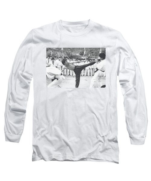 Bruce Lee - Kick To The Head Long Sleeve T-Shirt by Brand A