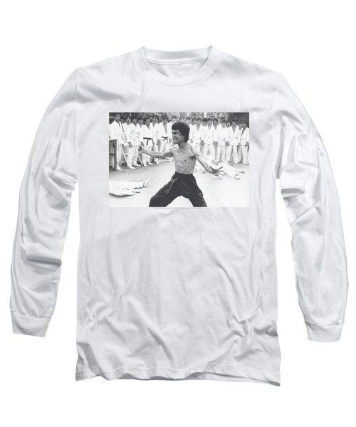 Bruce Lee - Triumphant Long Sleeve T-Shirt by Brand A