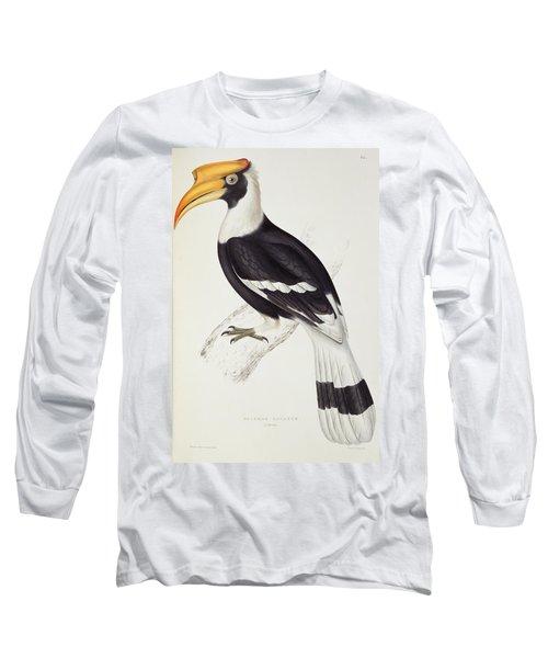 Great Hornbill Long Sleeve T-Shirt by John Gould