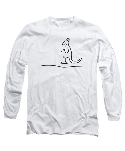 Cangarooh Kaenguru Bag Baby Long Sleeve T-Shirt by Lineamentum