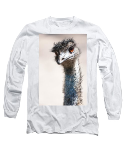 Curious Emu Long Sleeve T-Shirt by Carol Groenen
