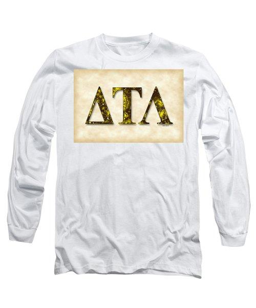 Delta Tau Lambda - Parchment Long Sleeve T-Shirt by Stephen Younts