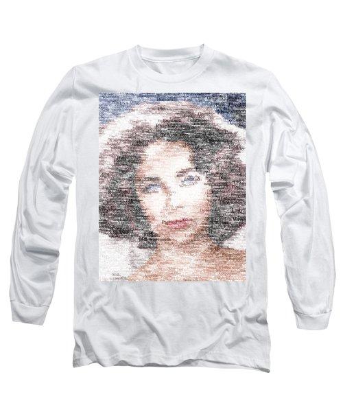 Elizabeth Taylor Typo Long Sleeve T-Shirt by Taylan Soyturk