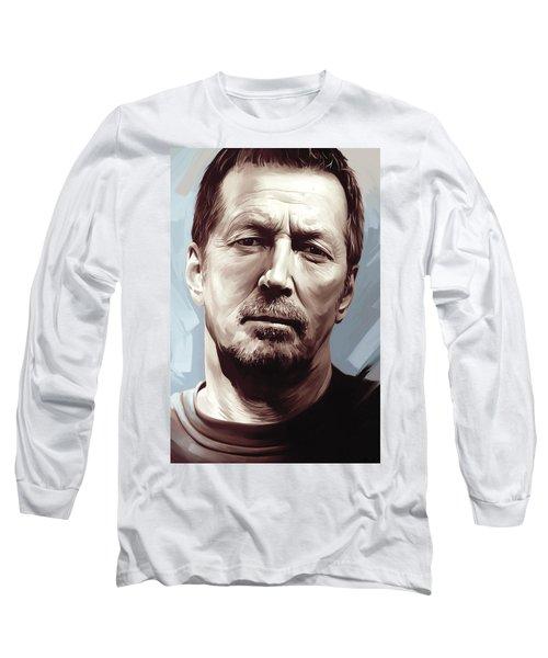Eric Clapton Artwork Long Sleeve T-Shirt by Sheraz A