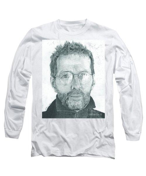 Eric Clapton Long Sleeve T-Shirt by Jeff Ridlen