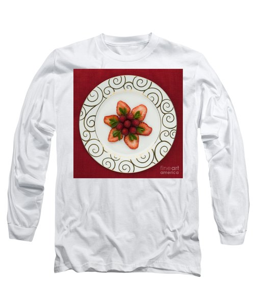 Flowering Fruits Long Sleeve T-Shirt by Anne Gilbert