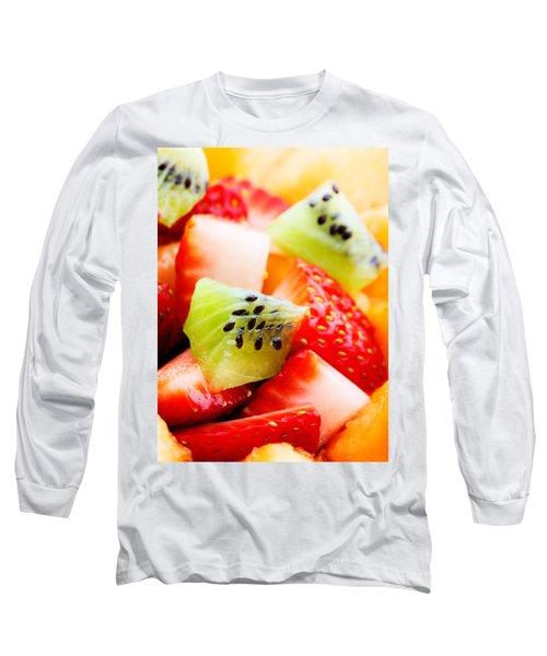 Fruit Salad Macro Long Sleeve T-Shirt by Johan Swanepoel