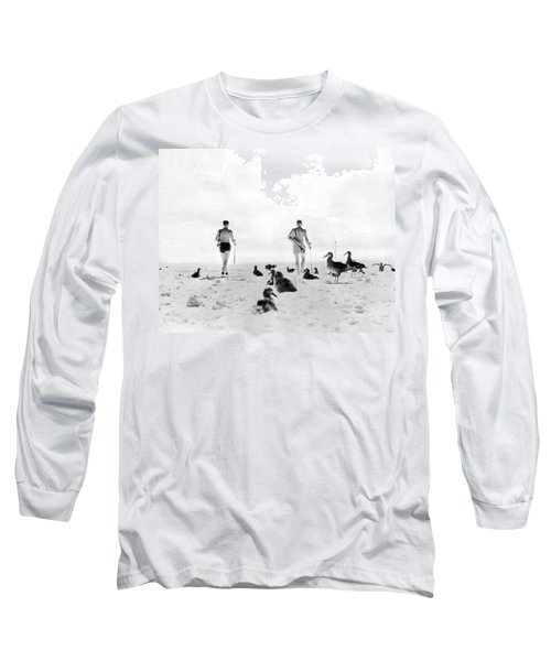 Golf With Gooney Birds Long Sleeve T-Shirt by Underwood Archives