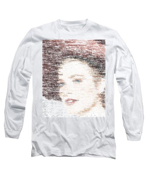 Grace Kelly Typo Long Sleeve T-Shirt by Taylan Apukovska