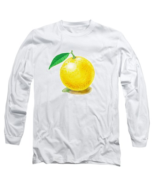 Grapefruit Long Sleeve T-Shirt by Irina Sztukowski